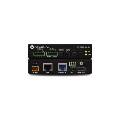 Atlona Ethernet-Enabled HDBaseT Scaler with HDMI and Analog Audio Outputs, CAT5e/6, HDMI, 6.75 Gbps, HDCP 1.4, .....
