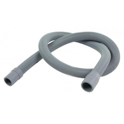 Hq keuken & huishoudelijke accessoire: Outlet hose 21 mm straight - 19 mm straight 1.00 m - Grijs