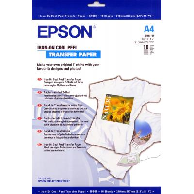 Epson T-shirt trasfer: Iron-on-transfer Paper, DIN A4, 124g/m², 10 Vel