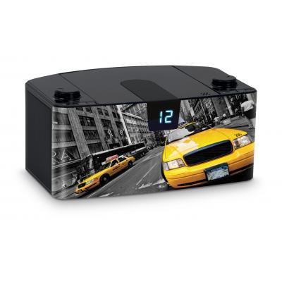 Bigben interactive CD-radio: Draagbare radio en CD speler met USB - Taxi - Zwart, Grijs, Geel