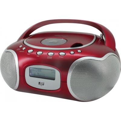 Soundmaster CD-radio: Stereo-PLL-DAB+ radio with CD-MP3, Red - Rood