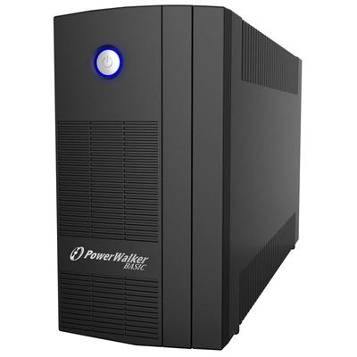 PowerWalker Basic VI 1000 SB UPS - Zwart