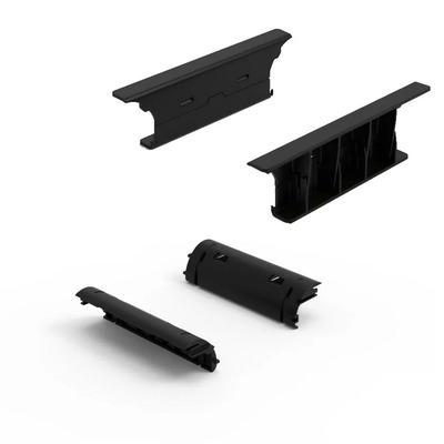 Minkels Set van 2 stuks kabelgeleiderset 100mm eindschotten kabelgeleiders voor dak zijkant Rack toebehoren - .....