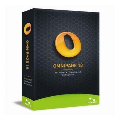 Nuance OCR software: OmniPage 18