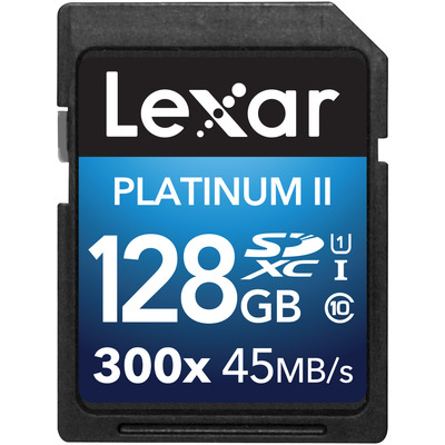 Lexar flashgeheugen: Platinum II 300x SDHC/SDXC UHS-I - Zwart
