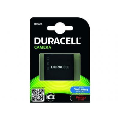 Duracell batterij: Camera Battery - replaces Samsung SLB-0837 Battery - Zwart