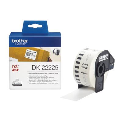 Brother Doorlopende papiertape 38 mm Labelprinter tape - Wit
