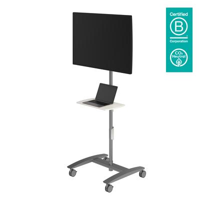 Dataflex Viewmate werkstation - vloer 712 Multimedia kar & stand - Zilver