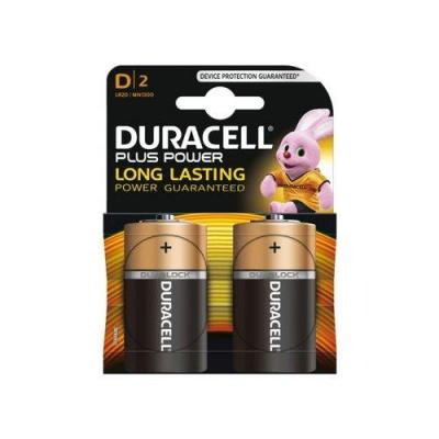 Duracell batterij: 2 x D, alkaline