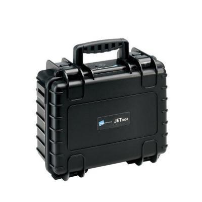 B&W JET 3000, impact-resistant case made of polypropylene, 12 L - Zwart