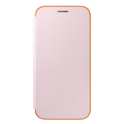 Samsung mobile phone case: Galaxy A5 2017 Neon Flip Wallet Cover - Pink - Roze