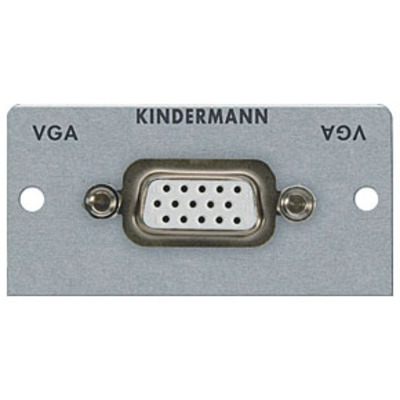 Kindermann 7444000501 Wandcontactdoos - Zilver