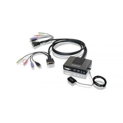 Iogear GCS982U - 2-Port USB Dual-Link DVI Cable with Audio KVM switch - Zwart