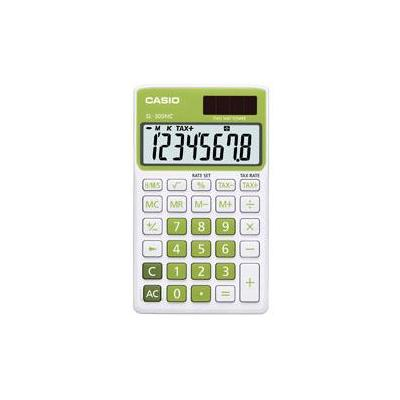 Casio calculator: LCD, 50g, green - Groen, Wit