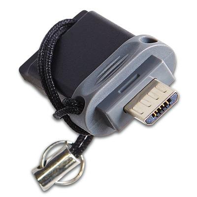 Verbatim Dubbel USB-station, OTG/USB 2.0/3.0, 16GB USB flash drive - Zwart