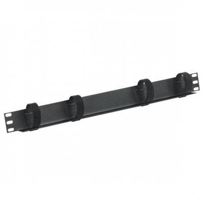 Black Box Cable manager, 1U, Black Rack toebehoren - Zwart