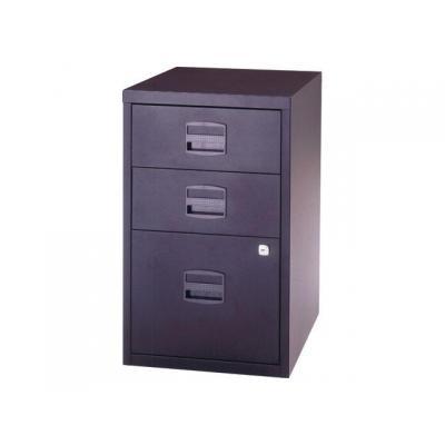 Bisley archiefkast: Ladenkast 2 x A-lade zilvergrijs