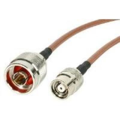 Intermec 4m, RP-TNC/N Coax kabel - Bruin