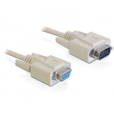 DeLOCK Sub-D9 2m Seriele kabel - Grijs