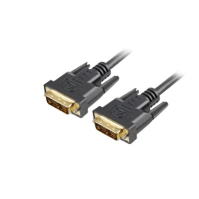 Sharkoon DVI-D/DVI-D (18+1), 1m DVI kabel  - Zwart