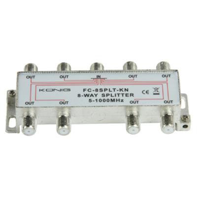 König kabel splitter of combiner: Splitter in een metalen die-cast behuizing
