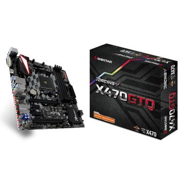 Biostar X470GTQ, AMD X470, AM4, 4x DDR4, 4x SATA III, M.2, USB 3.1, PS/2, DVI-D, HDMI, RJ-45, Micro ATX, 244x238 .....