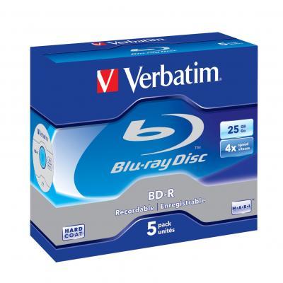 Verbatim BD: BD-R SL 25GB 4x 5 Pack Jewel Case