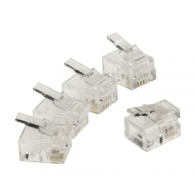 Valueline kabel connector: RJ11, 10 pcs - Transparant
