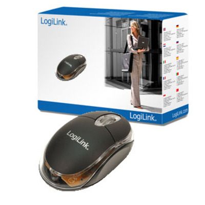 LogiLink Mouse optical USB Mini with LED Computermuis - Zwart