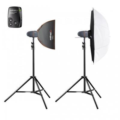 Walimex fotostudie-flits eenheid: Set Studioflashes 2.2 - Zwart, Grijs