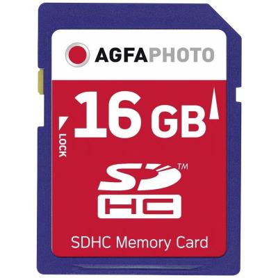 AgfaPhoto 16GB SDHC Flashgeheugen - Blauw