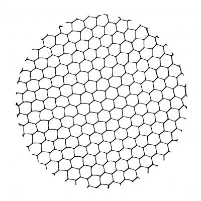 Verbatim licht montage en accessoire: Honeycomb louver f / LED Track lights 40W - Zwart