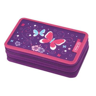 Herlitz potlood case: Purple Butterfly - Multi kleuren