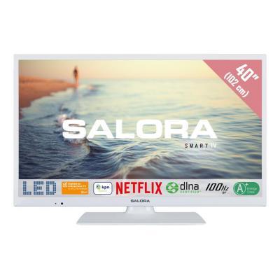 """Salora : Een 40"""" (102CM) Full HD SMART LED TV met Netflix, 100Hz bpr en USB mediaspeler - Wit"""