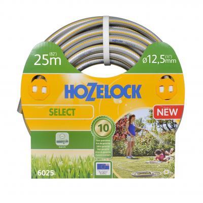 Hozelock tuinslang: tuinslang Select Ø 12.5 mm 25 meter - Grijs, Geel