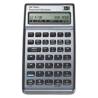 HP 17bII+ Calculator - Zwart
