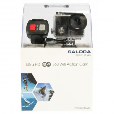 Salora actiesport camera: ProSport PSC9360UWD een Ultra HD (4K/30) camera met dubbel display - Zwart