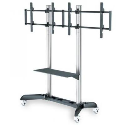 "Digitus multimedia kar & stand: Dual TV-Cart for screens up to 70"" shelf for DVD players, Notebooks,max load 128kg ....."
