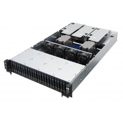 Asus server barebone: RS720A-E9-RS24-E - Zwart, Roestvrijstaal
