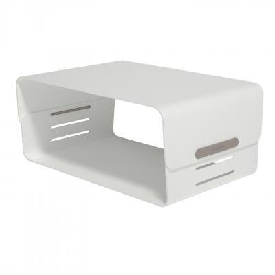 Dataflex accessoire: Addit Bento® monitorverhoger - verstelbaar 120 - Grijs, Wit
