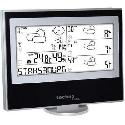 Technoline weerstation: WM 5200, Meteotronic Weather Station - Zwart, Zilver