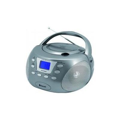 Soundmaster CD speler: Bluetooth CD boombox titaan, AM/FM, CD-R/RW, 2x12W - Titanium