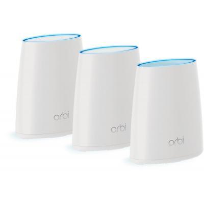 Netgear wireless router: Orbi Mini RBK43 Tri-Band AC2200 Mesh Starter Kit (3-Pack) - Wit