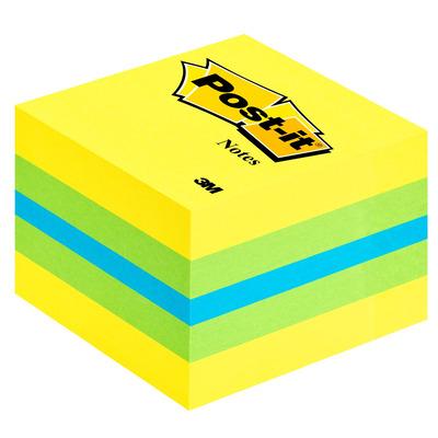 3m zelfklevend notitiepapier: Post-it 2051L - Blauw, Groen, Turkoois, Geel