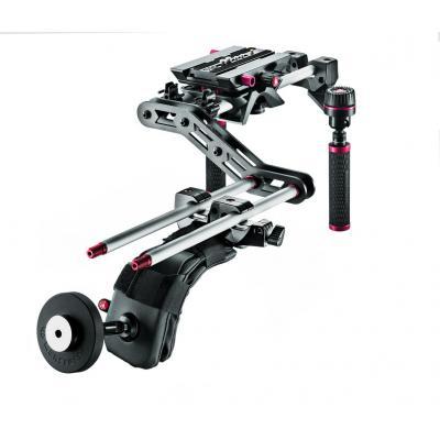 Manfrotto camera-ophangaccessoire: Sympla Shoulder Mounted Rig - Zwart, Zilver
