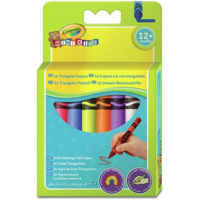 Crayola : Mini Kids - 16 Driehoekige waskrijtjes - Multi kleuren