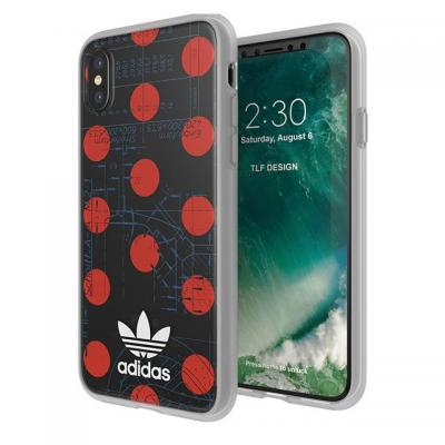 Adidas mobile phone case: iPhone X, Red/Black - Zwart, Rood