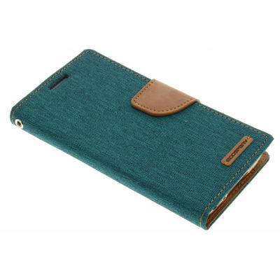 Canvas Diary Booktype Samsung Galaxy S5 (Plus) / Neo - Groen Mobile phone case
