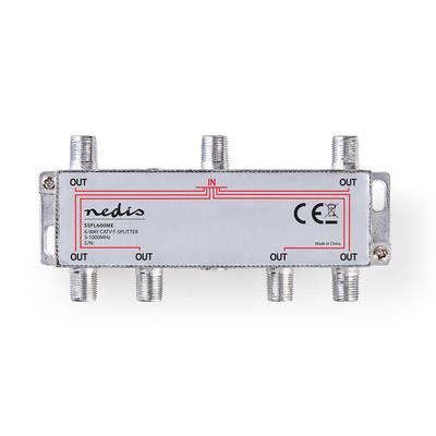 Nedis SSPL600ME Kabel splitter of combiner - Zilver