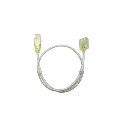 Microconnect USB 2.0 A-A 0.5m M-F USB kabel - Transparant
